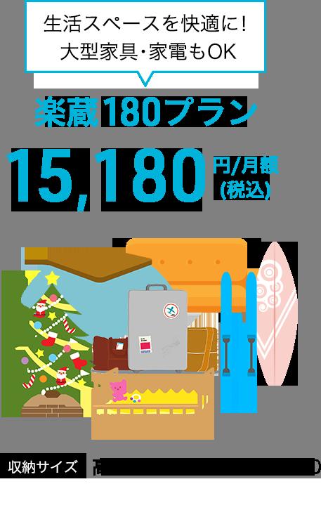 楽蔵180プラン 13,800円/月額(税別)
