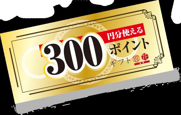 300ポイント