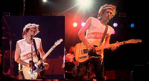 レゲエ・ミュージックが好きなキース・リチャーズのソロ&エクスペンシヴ・ワイノーズのステージでもよくRED STRIPEのTシャツを着て演奏している。