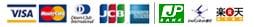 支払方法:VISA/MASTER/DINERS/JCB/AMEX/ジャパンネット銀行/楽天銀行/ゆうちょ/代金引換
