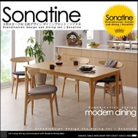 北欧デザイン オークダイニングテーブル 5点セット