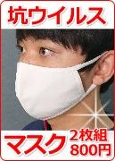 坑ウイルスマスク