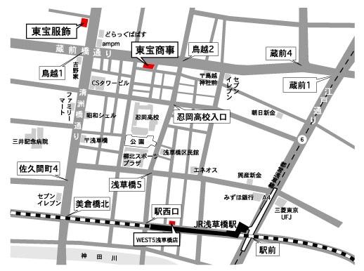 浅草橋地図