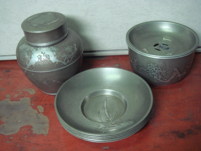 茶道具・煎茶道具の錫製品・茶器買取愛知県