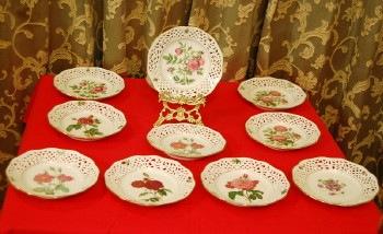ルドゥーテ バラのビンテージ飾り皿  シューマン アルツベルク