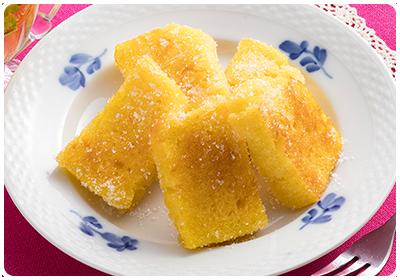 メープルパンケーキの簡単ラスク風