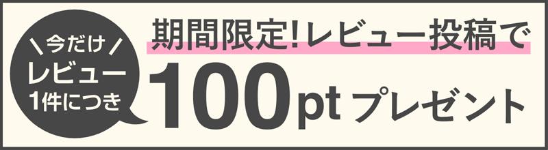 期間限定!レビュー投稿で100ptプレゼント!