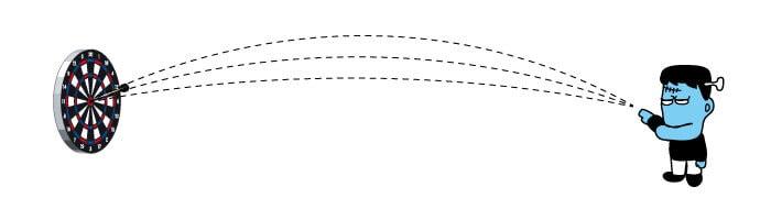 ダーツの軌道イメージ