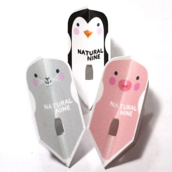 ペンギン・ブタ・ネズミの可愛いスリムタイプのダーツフライト