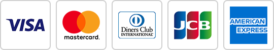 VISA・MASTER・Diners・JCB・AMEX