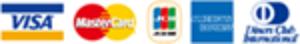 VISA/Mastercard/JCB/American Express/Diners