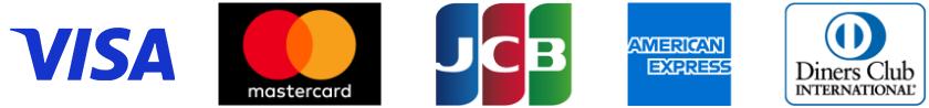 VISA/MasterCard/JCB/AmericanExpress/Diners Club