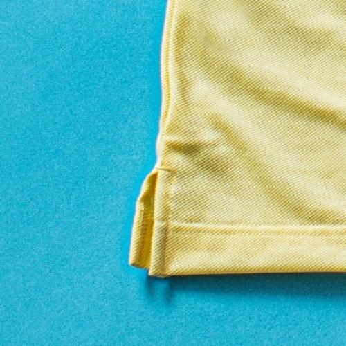 ゴールデンベアポロシャツイエロー裾
