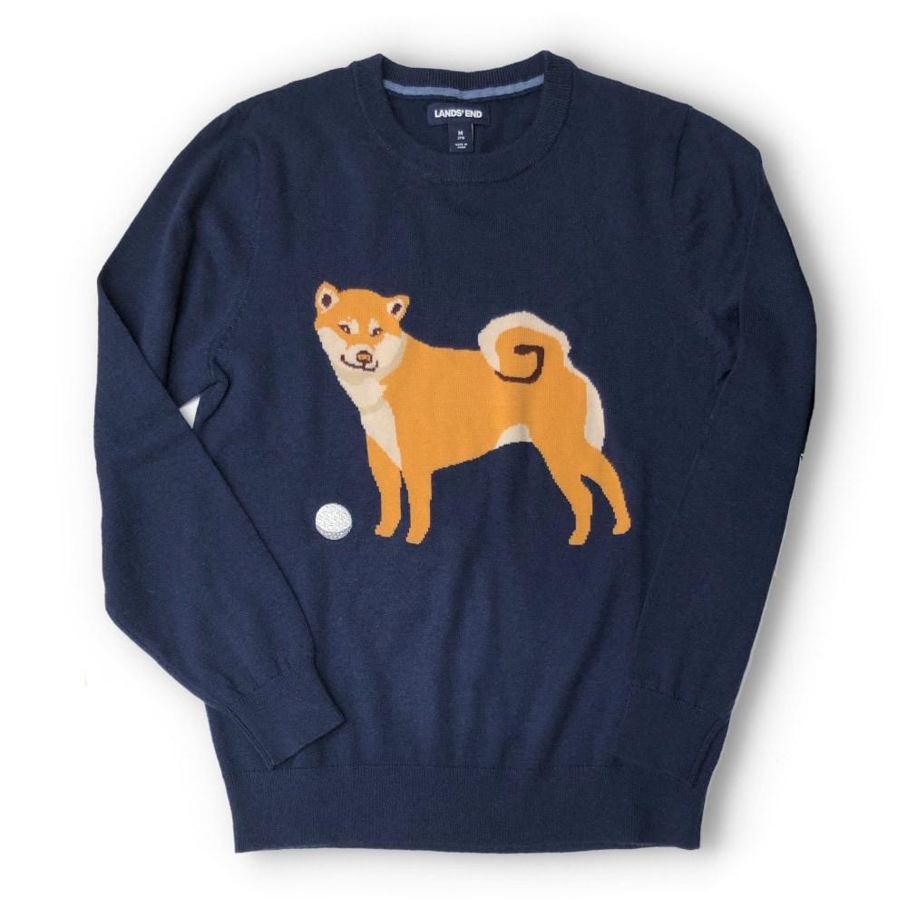 柴犬&イーグルセーター