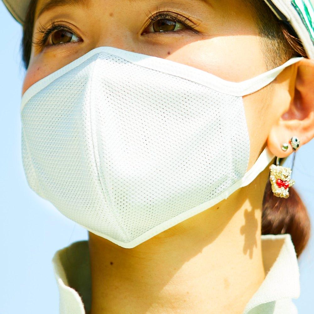 夏ゴルフ用マスクホワイト