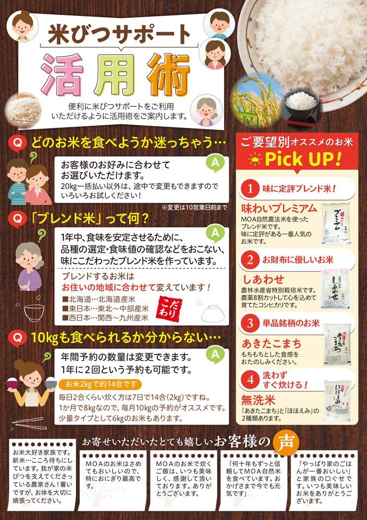 米びつサポート活用術