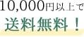 10,000円以上で送料無料!