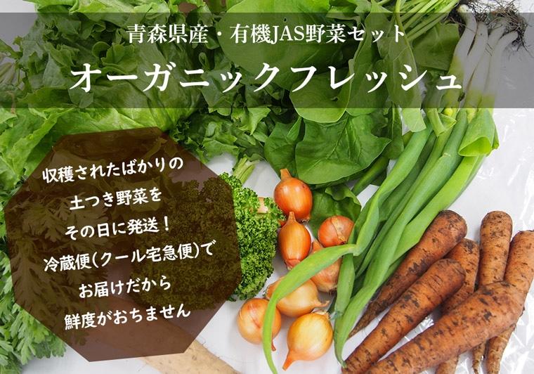 青森県産有機JAS野菜セットオーガニックフレッシュ