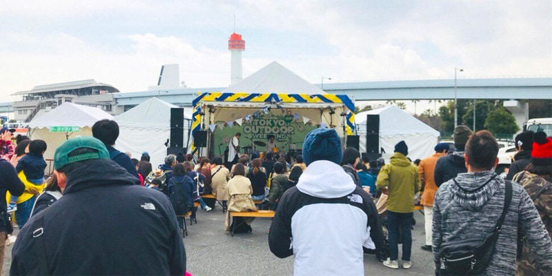 東京アウトドアウィークエンドのステージ画像