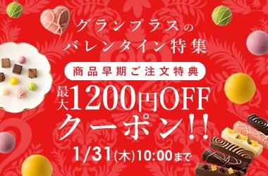 バレンタイン最大1200円OFFクーポン!!