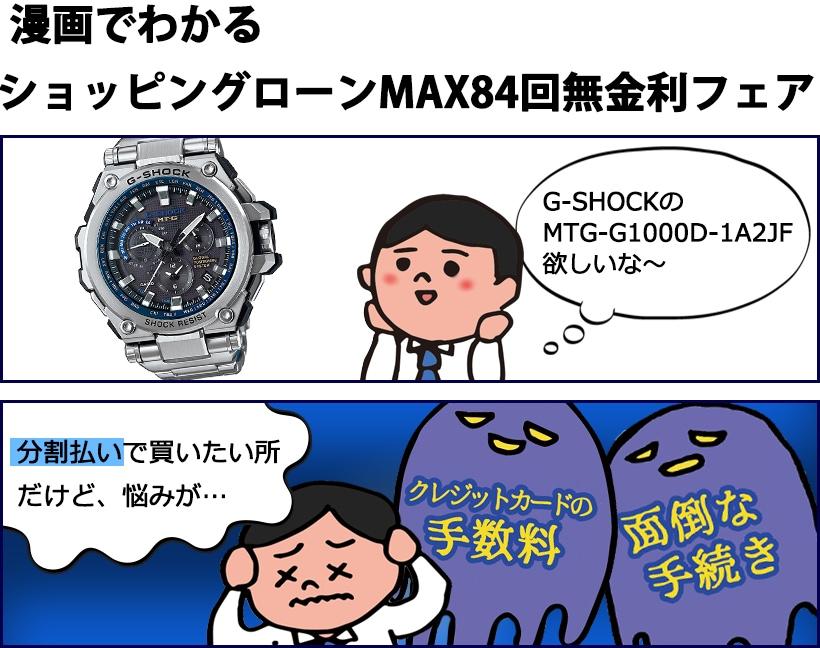 漫画でわかるショッピングローンMAX60回無金利フェア
