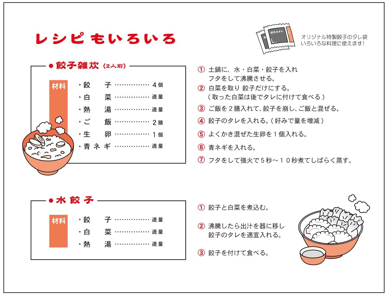 餃子のレシピ