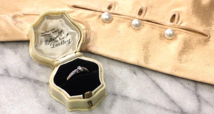 アンティーク ヴィンテージ ダイア ソリティア 婚約指輪 エンゲージ