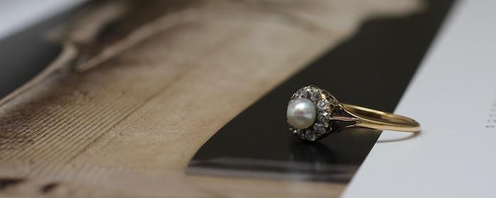 アンティークジュエリー,パール,真珠,天然真珠