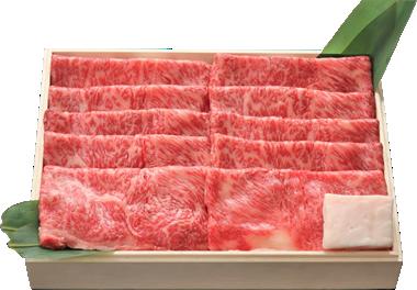 きめ細かい霜降りの入った高級松阪牛すき焼き