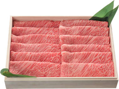 きめ細かい霜降りの入った高級松阪牛しゃぶしゃぶ