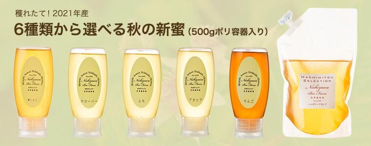 6種類から選べる秋の新蜜(500gポリ容器入り)