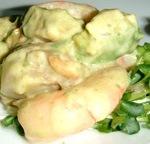 海老とホタテのアボカドソースサラダ