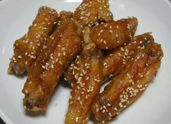 鶏手羽中の甘辛