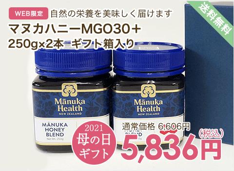 マヌカハニーMGO30+ 250g×2本 ギフト箱入り