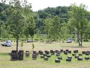 北海道の自社養蜂場