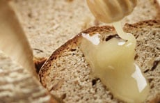 パンにぬるはちみつ