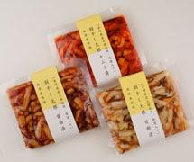 割干し大根漬け(醤油・甘酢・キムチ)