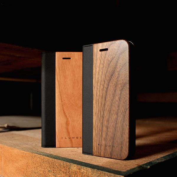 「iPhone SE(第2世代)/8/7/6 FLIPCASE」木目の美しさをシンプルに表現した手帳型スマートフォンケース