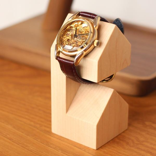 木製ウォッチスタンド