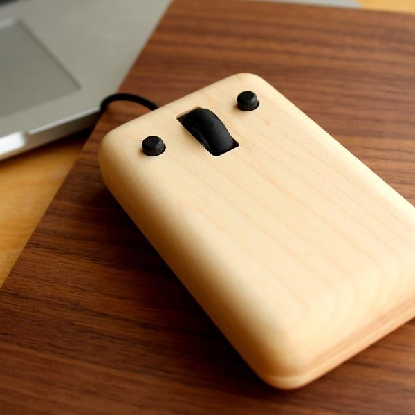 木製光学マウス「プレイマウス」