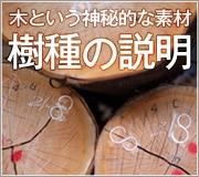 無垢材・木製雑貨に使われている木の説明