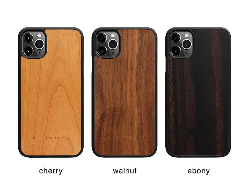 丈夫なハードケースと天然木を融合したiPhone11用木製ケース
