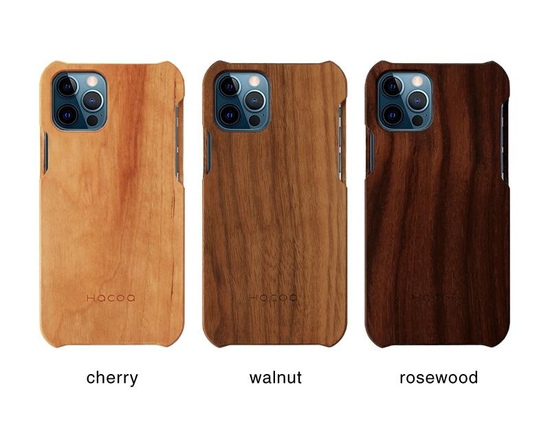 無垢の天然木を削り出してつくったHacoaブランドの木製iPhone12用ケース
