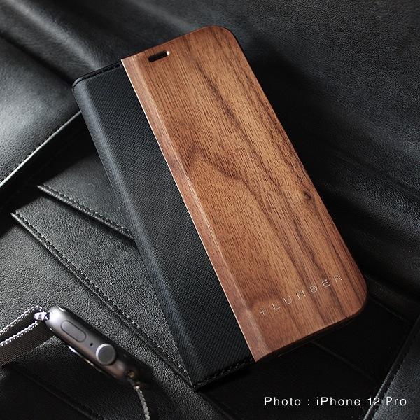 iPhone 12/12Pro用木製手帳型ケース