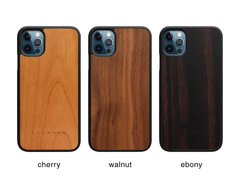 丈夫なハードケースと天然木を融合したiPhone12用木製ケース