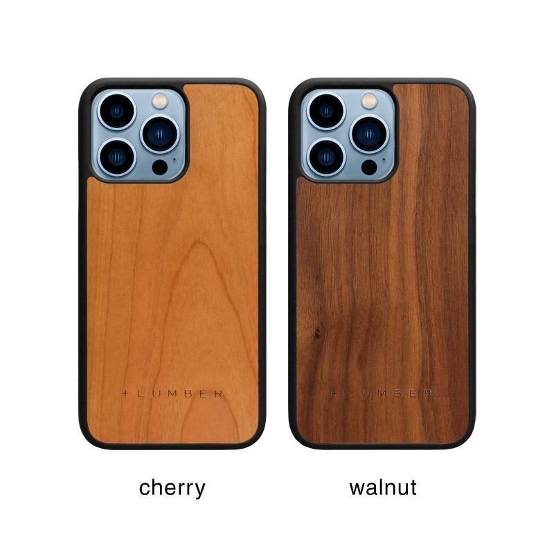 丈夫なハードケースと天然木を融合したiPhone13Pro用木製ケース