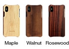 無垢の木製iPhoneXSケース