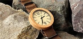 無垢の天然木をおしゃれに組み込んだ木製腕時計「Wooden Watch NATO STYLE」