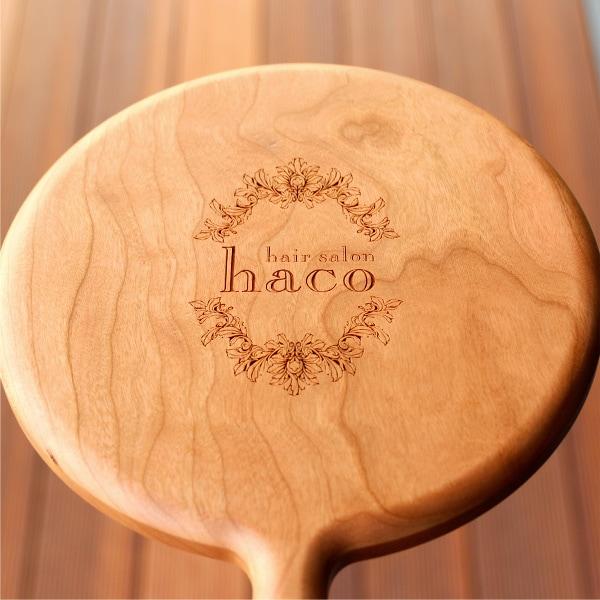 手鏡に美容室・美容院・ヘアサロンのショップロゴを刻印できます