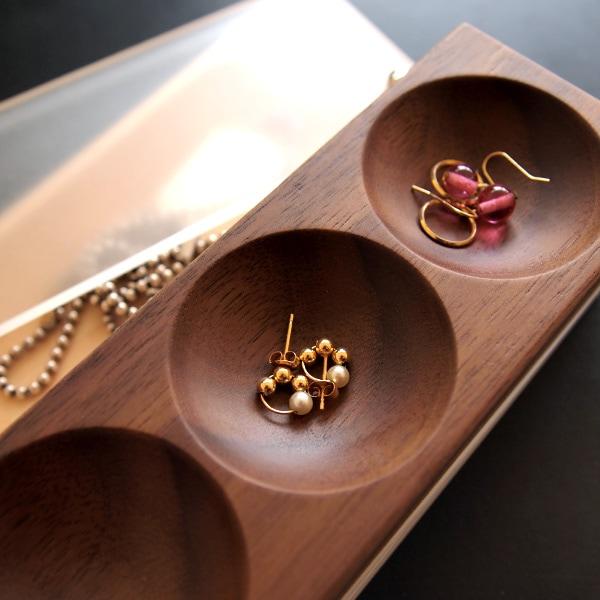 木の美しいジュエリーボックス・アクセサリーケース「Jewelry Case ピアスタイプ」